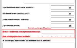 Affichage du permis de construire : des mentions à ajouter